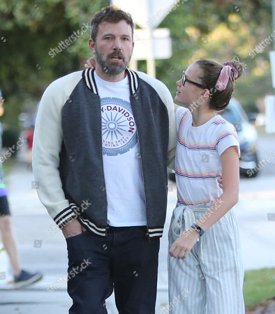 Editorial image of Ben Affleck and Violet Affleck out and about, Los Angeles, USA - 11 Oct 2019
