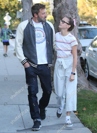 Editorial picture of Ben Affleck and Violet Affleck out and about, Los Angeles, USA - 11 Oct 2019