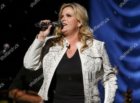 Stock Image of Trisha Yearwood performs at Cobb Energy Centre, in Atlanta