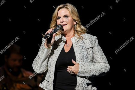 Stock Picture of Trisha Yearwood performs at Cobb Energy Centre, in Atlanta