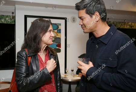 """Stock Image of Patricia Schneider, Destin Daniel Cretton. Patricia Schneider and director Destin Daniel Cretton attend the """"Just Mercy"""" tastemaker screening and reception at The London Hotel on"""