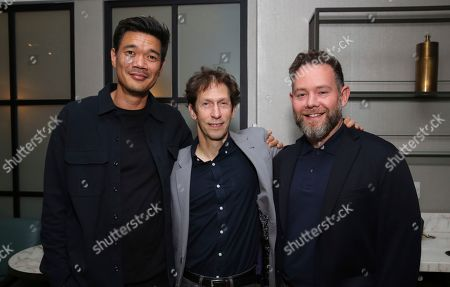 """Destin Cretton, Tim Blake Nelson, Asher Goldstein. Director Destin Cretton, cast member Tim Blake Nelson and producer Asher Goldstein attend the """"Just Mercy"""" tastemaker screening and reception at The London Hotel on"""