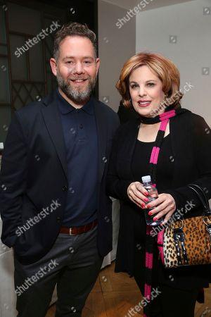 "Asher Goldstein, Kat Kramer. Producer Asher Goldstein and Kat Kramer attend the ""Just Mercy"" tastemaker screening and reception at The London Hotel on"