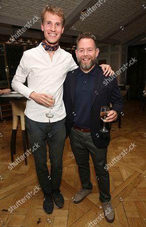 """Timo Von Gunten, Asher Goldstein. Timo Von Gunten and producer Asher Goldstein attend the """"Just Mercy"""" tastemaker screening and reception at The London Hotel on"""