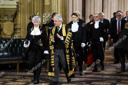 Sarah Clarke, Black Rod and Speaker John Bercow.