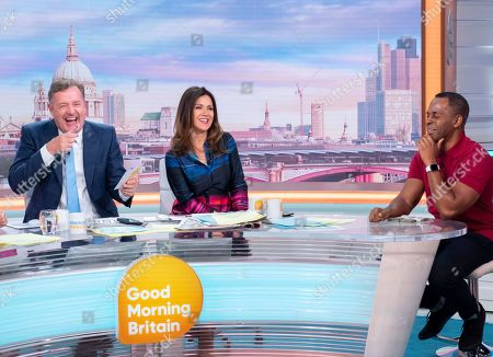 Piers Morgan and Susanna Reid with Andi Peters