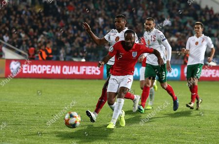 Raheem Sterling of England scores his sides fifth  goal