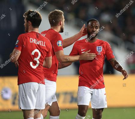 Raheem Sterling of England celebrates scoring his sides fifth  goal