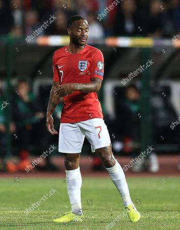 Raheem Sterling of England reacts