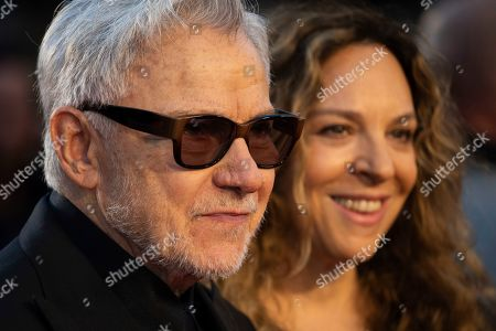 Harvey Keitel, Daphna Kastner. Actor Harvey Keitel and Daphna Kastner pose for photographers upon arrival at the premiere of the film 'The Irishman' as part of the London Film Festival, in central London