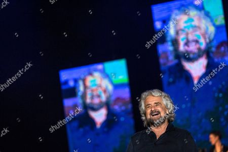 Stock Picture of Founder of M5S Beppe Grillo