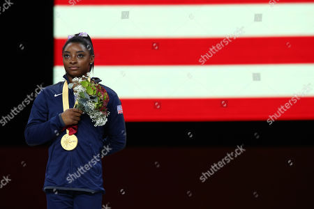Simone Biles (USA) - Artistic Gymnastics : The 2019 Artistic Gymnastics World Championships, Women's Apparatus Balance Beam Award ceremony at Hanns-Martin-Schleyer-Halle in Stuttgart, Germany.