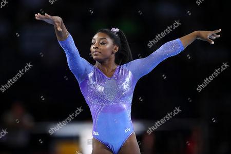 Simone Biles (USA) - Artistic Gymnastics : The 2019 Artistic Gymnastics World Championships, Women's Apparatus Finals Floor Exercise at Hanns-Martin-Schleyer-Halle in Stuttgart, Germany.