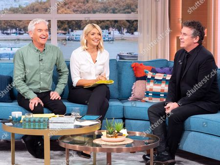 Stock Picture of Phillip Schofield and Holly Willoughby with Shane Richie