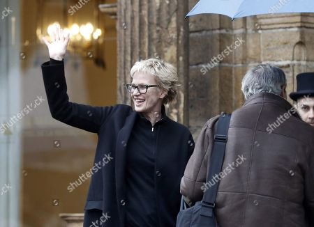 US writer Siri Hustvedt arrives to La Reconquista Hotel in Oviedo, Asturias, Spain, 14 October 2019. Hustvedt will receive the 2019 Princess of Asturias Award for Literature during the Princess of Asturias Awarding Ceremony on 18 October. The Princess of Asturias Awards are given every year to personalities or organizations from all around the world who make significant achievements in the sciences, arts, literature, humanities and sports.