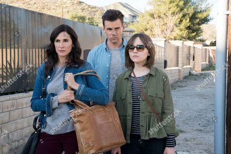 Michaela Watkins as Valerie Meyers, Tommy Dewey as Alex Cole and Tara Lynne Barr as Laura Meyers