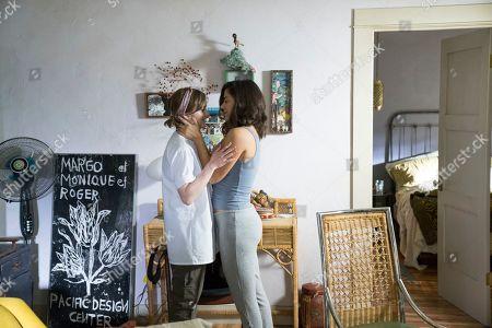 Tara Lynne Barr as Laura Meyers and Lorenza Izzo as Tatiana