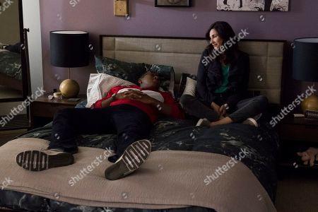 Nyasha Hatendi as Leon and Michaela Watkins as Valeria Meyers