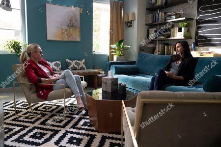 Julie Berman as Leia and Michaela Watkins as Valerie Meyers