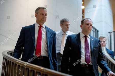 Scott Perry, Jim Jordan, Lee Zeldin. Republican lawmakers, from left, Rep. Scott Perry, R-Pa., Rep. Jim Jordan, R-Ohio, ranking member of the Committee on Oversight Reform, and Rep. Lee Zeldin R-N.Y., arrive for a closed door meeting on Capitol Hill in Washington, where former White House advisor on Russia, Fiona Hill, is scheduled to testify before congressional lawmakers as part of the House impeachment inquiry into President Donald Trump