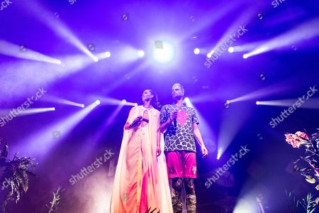 Editorial image of Sofi Tukker in concert at the Fox Theater, Oakland, USA - 09 Oct 2019