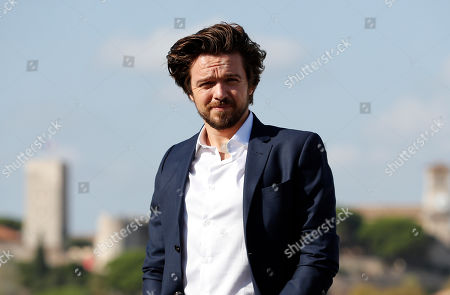 Stock Picture of Luke Allen-Gale poses during a photocall for the TV series 'Van Der Valk' at the annual MIPCOM television content market in Canneâ??s, France, 14 October 2019. The media event runs from 14 to 17 October.