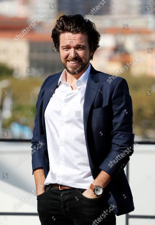 Stock Image of Luke Allen-Gale poses during a photocall for the TV series 'Van Der Valk' at the annual MIPCOM television content market in Canneâ??s, France, 14 October 2019. The media event runs from 14 to 17 October.