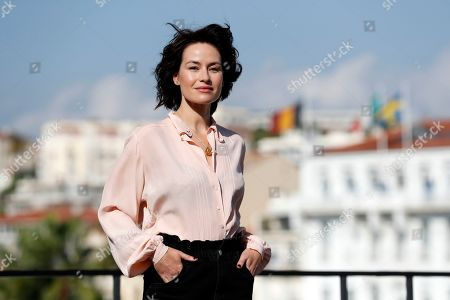 Maimie McCoy poses during a photocall for the TV series 'Van Der Valk' at the annual MIPCOM television content market in Canneâ??s, France, 14 October 2019. The media event runs from 14 to 17 October.
