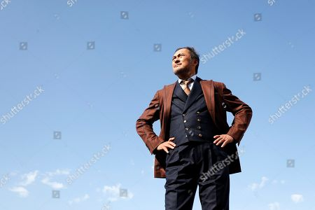 Ken Watanabe poses during a photocall for the TV series 'An artist of the floating world' at the annual MIPCOM television content market in Canneâ??s, France, 14 October 2019. The media event runs from 14 to 17 October.