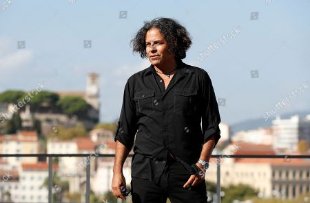 Stevie Salas poses during a photocall at the annual MIPCOM television content market in Canneâ??s, France, 14 October 2019. The media event runs from 14 to 17 October.