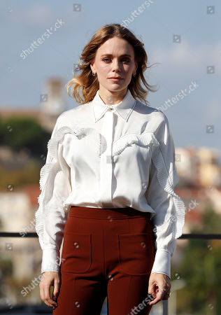 Katia Winter poses during a photocall for the TV series 'Agent Hamilton' at the annual MIPCOM television content market in Canneâ??s, France, 14 October 2019. The media event runs from 14 to 17 October.