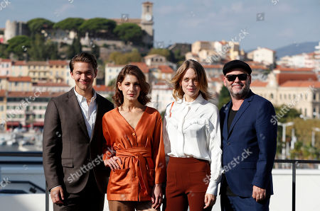 Jakob Oftebro, Swedish actresses Nina Zanjani and Katia Winter, and Swedish director Erik Leijonborg pose during a photocall for the TV series 'Agent Hamilton' at the annual MIPCOM television content market in Canneâ??s, France, 14 October 2019. The media event runs from 14 to 17 October.