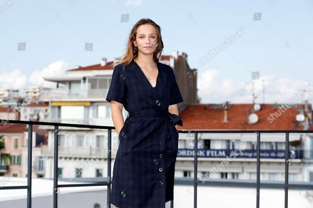 Molly Windsor poses during a photocall for the TV series 'Traces' at the annual MIPCOM television content market in Canneâ??s, France, 14 October 2019. The media event runs from 14 to 17 October.