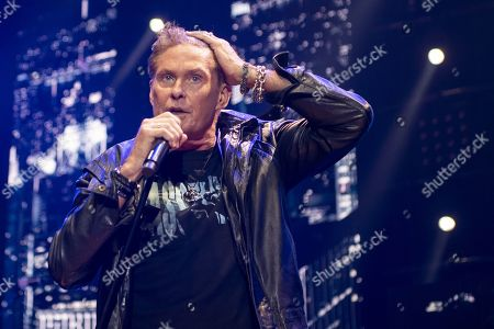 David Hasselhoff performs on stage during a concert at the Samsung Hall in Zurich, Switzerland, 14 October 2019, as part of his 'Freedom! The Journey Continues Tour'.
