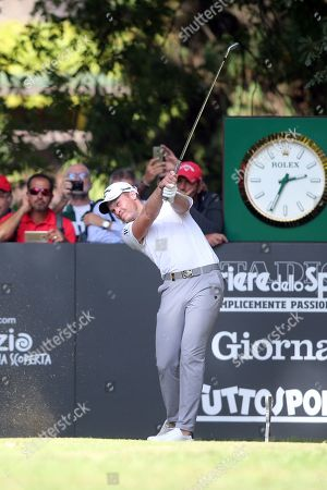 Justin Rose of England), Andrea Pavan of Italy), Danny Willet of England