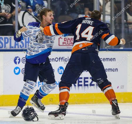 Editorial image of ECHL HOCKEY GREENVILLE VS. JACKSONVILLE, Jacksonville, USA - 12 Oct 2019
