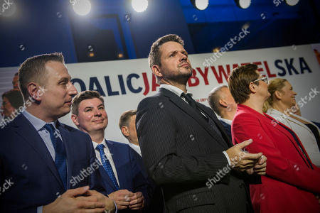 Editorial image of Preliminary announcement of election results, Warsaw, Poland - 13 Oct 2019