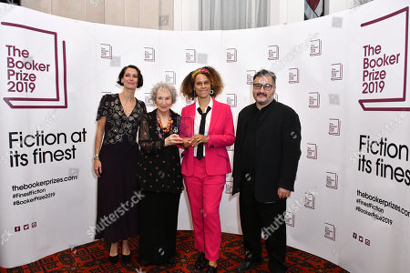 Stock Picture of Gaby Wood, Margaret Atwood, Bernardine Evaristo and Peter Florence