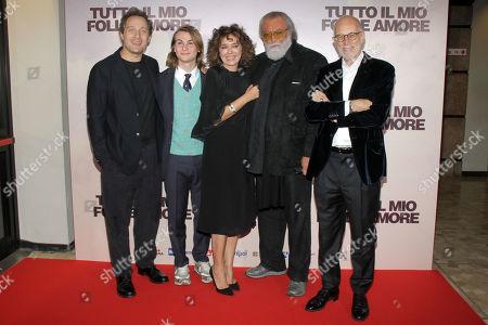Claudio Santamaria, Giulio Pranno, Valeria Golino, Diego Abatantuono and Gabriele Salvatores