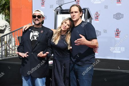 Stock Image of Kevin Smith, Ellen K. and Jason Mewes