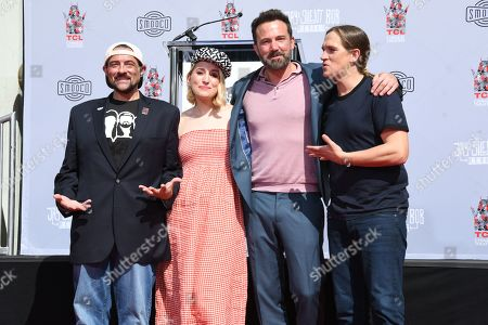 Kevin Smith, Harley Quinn Smith, Ben Affleck and Jason Mewes