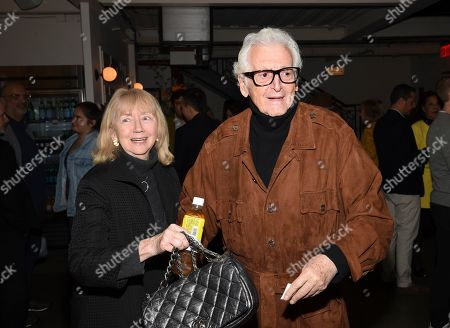 """Stock Image of Gigi Benson, Harry Benson. Photographer Harry Benson and wife Gigi Benson attend a special screening of Sony Pictures Classics' """"Frankie"""", hosted by The Cinema Society, at Metrograph, in New York"""