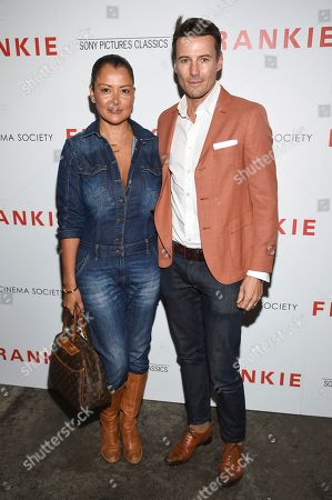 """Keytt Lundqvist, Alex Lundqvist. Keytt Lundqvist, left, and husband Alex Lundqvist attend a special screening of Sony Pictures Classics' """"Frankie"""", hosted by The Cinema Society, at Metrograph, in New York"""