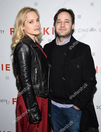 "Caitlin Mehner, Danny Strong. Caitlin Mehner, left, and Danny Strong attend a special screening of Sony Pictures Classics' ""Frankie"", hosted by The Cinema Society, at Metrograph, in New York"