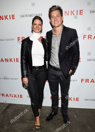 """Zeynep Onaran, Peter Cincotti. Peter Cincotti, right, and Zeynep Onaran attend a special screening of Sony Pictures Classics' """"Frankie"""", hosted by The Cinema Society, at Metrograph, in New York"""