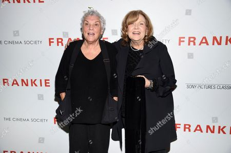 "Tyne Daly, Brenda Vaccaro. Actors Tyne Daly, left, and Brenda Vaccaro attend a special screening of Sony Pictures Classics' ""Frankie"", hosted by The Cinema Society, at Metrograph, in New York"
