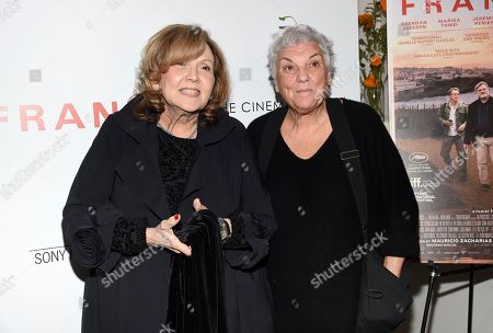 "Brenda Vaccaro, Tyne Daly. Actors Brenda Vaccaro, left, and Tyne Daly attend a special screening of Sony Pictures Classics' ""Frankie"", hosted by The Cinema Society, at Metrograph, in New York"