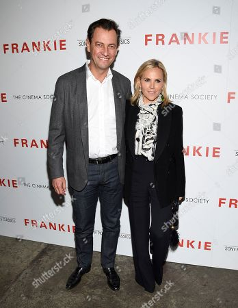 """Pierre-Yves Roussel, Tory Burch. Pierre-Yves Roussel, left, and Tory Burch attend a special screening of Sony Pictures Classics' """"Frankie"""", hosted by The Cinema Society, at Metrograph, in New York"""