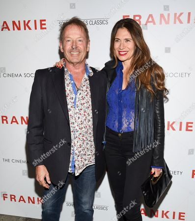 """Stock Image of Simon Kirke, Maria Kirke. Drummer Simon Kirke, left, and wife Maria Kirke attend a special screening of Sony Pictures Classics' """"Frankie"""", hosted by The Cinema Society, at Metrograph, in New York"""