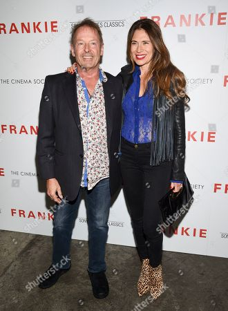 """Stock Photo of Simon Kirke, Maria Kirke. Drummer Simon Kirke, left, and wife Maria Kirke attend a special screening of Sony Pictures Classics' """"Frankie"""", hosted by The Cinema Society, at Metrograph, in New York"""